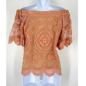 Jens Pirate Booty Kaedi Lace Overlay Off Shoulder